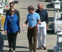 Hillary strolling dockside